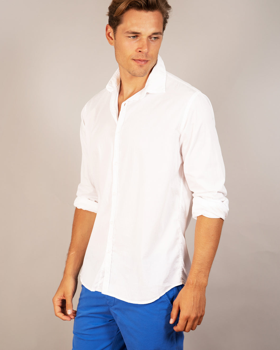 Vardy -Cotton-Voile Shirt, White