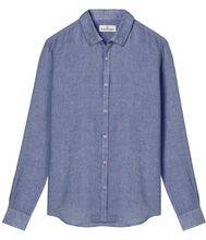 Load image into Gallery viewer, Linen Jonas Shirt, Leaden Blue