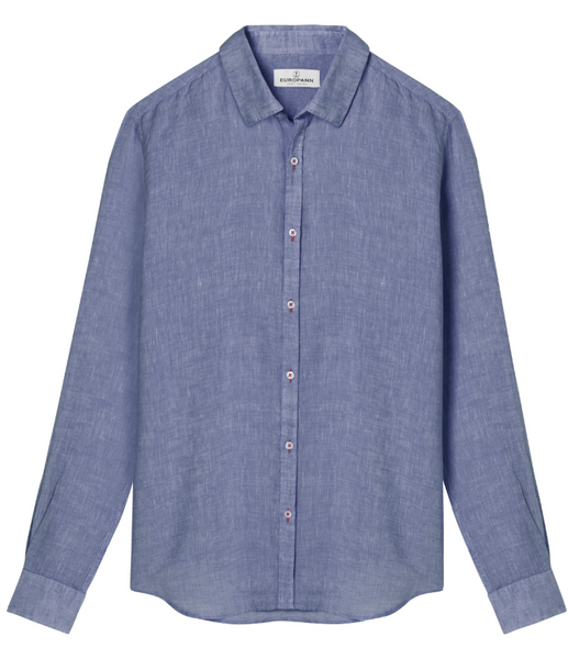 Linen Jonas Shirt, Leaden Blue