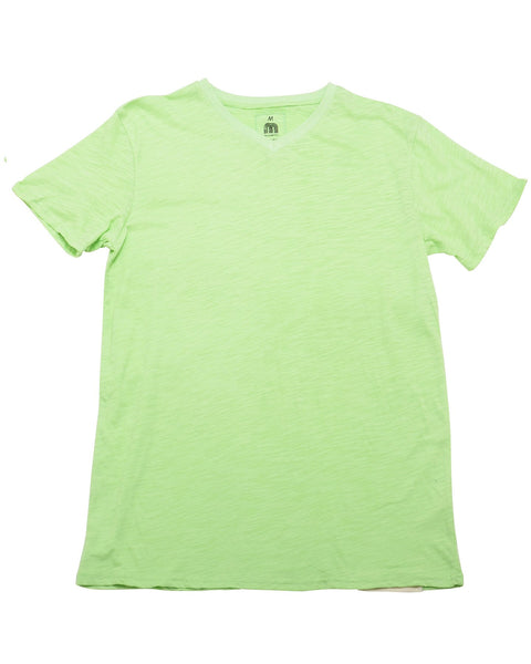 Basic V Neck Lime Green Tshirt