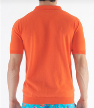 Load image into Gallery viewer, Cotton Crepe Polo Zeybra Orange