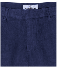 Load image into Gallery viewer, Linen Shorts Navy
