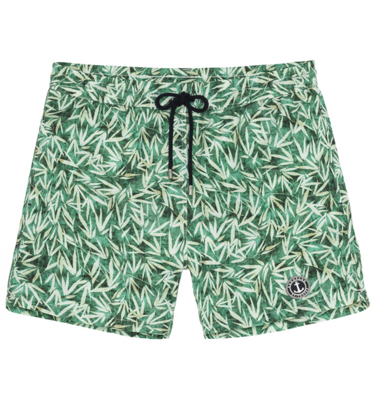 Flower Print Green Shorts