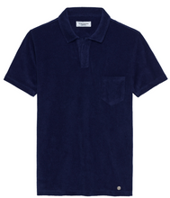 Load image into Gallery viewer, Terri Towel Polo Navy