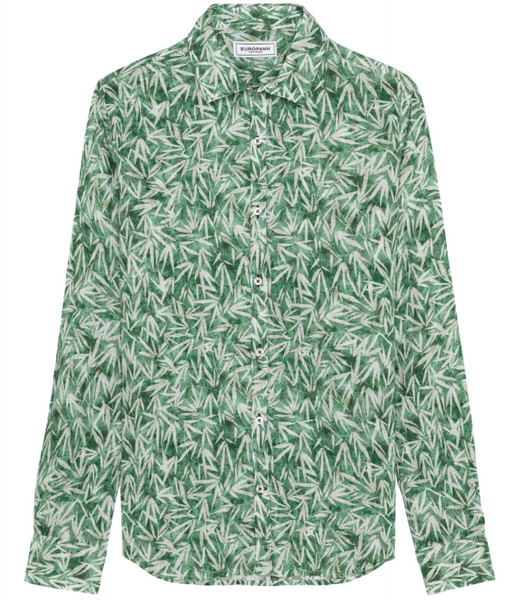 Tropical Linen Shirt Forest
