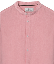 Load image into Gallery viewer, Mao Collar Linen Shirt, Pink