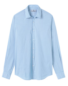 Vardy -Cotton-Voile Shirt, Sky Blue