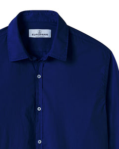 Vardy -Cotton-Voile Shirt, Ink Blue