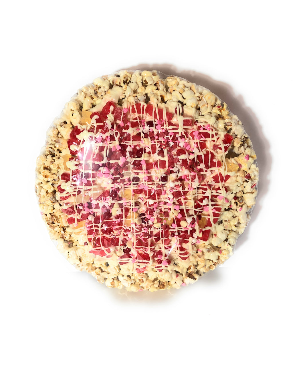 Valentine's Day Chewy Candy Popcorn Pizza
