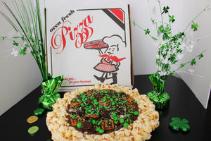 Luck of the Irish Chocolate Popcorn Pizza