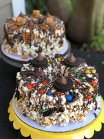 Customized Birthday Celebration Popcorn Cake