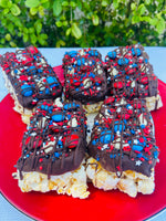 Patriotic Red White and Blue Gourmet Popcorn Bars
