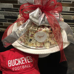 Ohio State Buckeye Popcorn Cake for Tailgating
