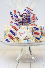 Patriotic USA Red, White and Blue Gourmet Popcorn Cake™