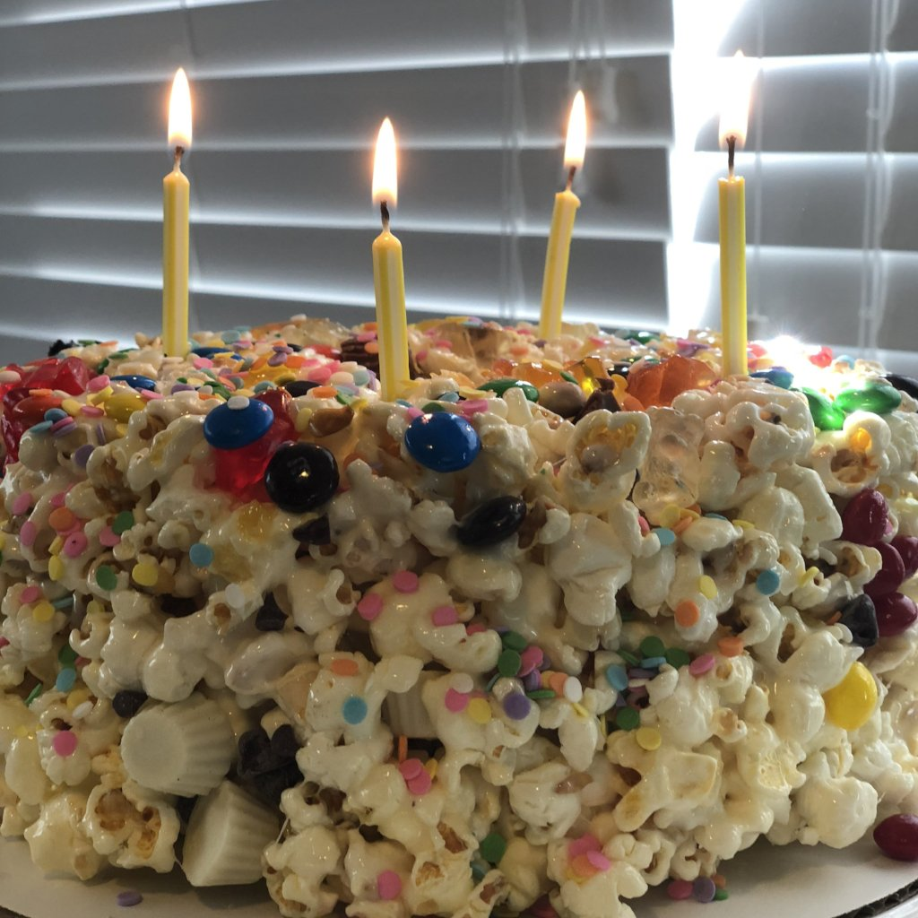 Customized Birthday Celebration Popcorn Bundt Cake