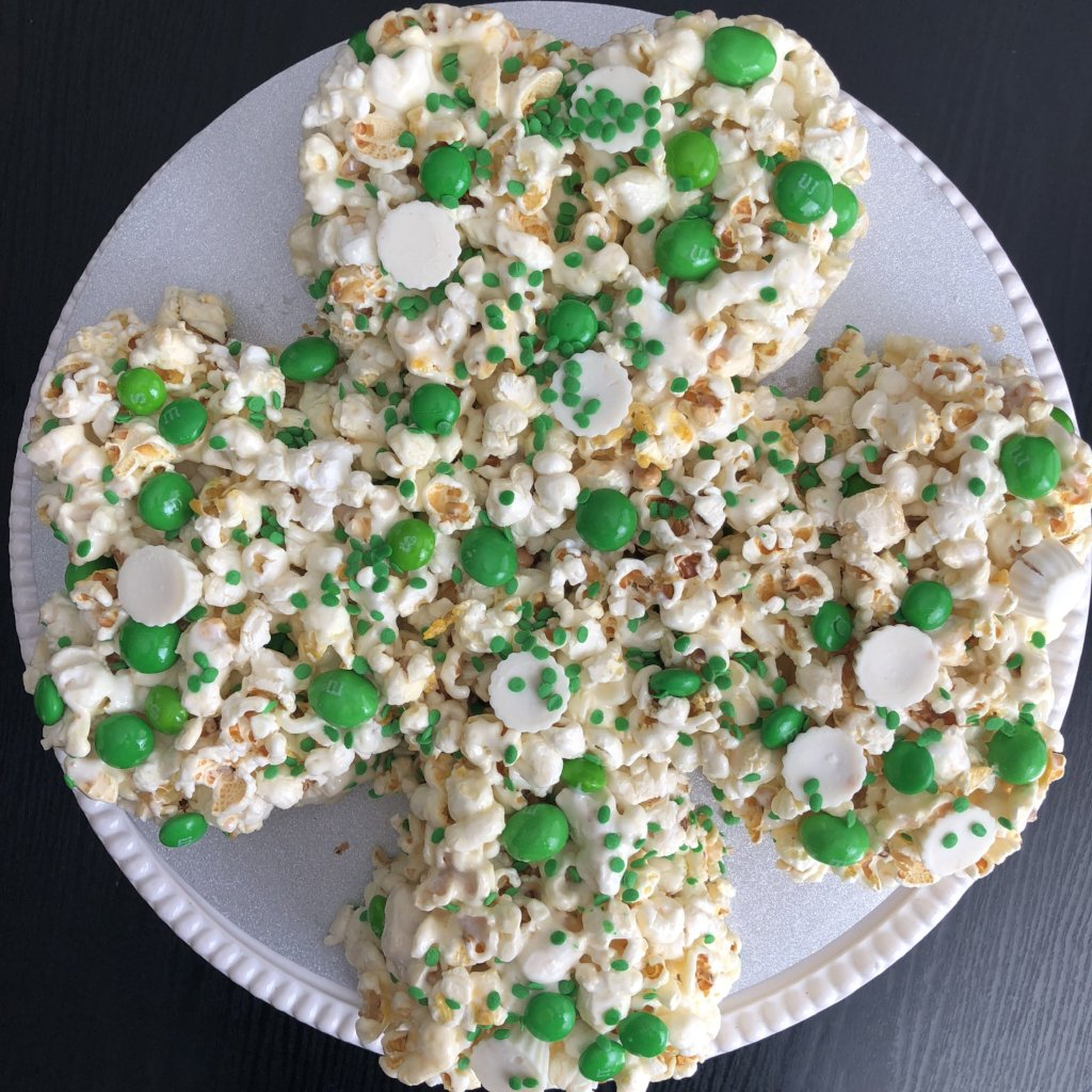 Irish Shamrock Popcorn Cake