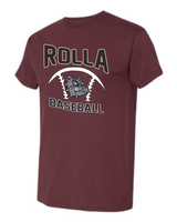 Cotton Maroon Baseball Logo