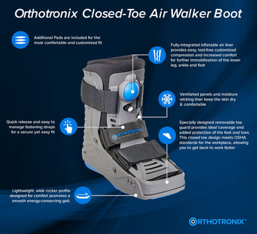 The Orthotronix Short Closed-Toe Aero Walker Boot (Foot & Ankle)