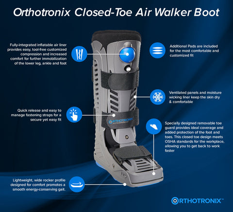 The Orthotronix Tall Closed-Toe Aero Walker Boot (Foot & Ankle)