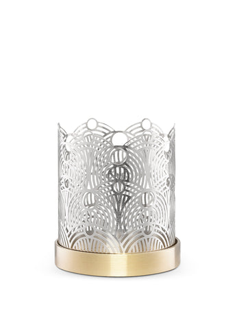 Skultuna Extra Small Lunar Candle Holder in Silver