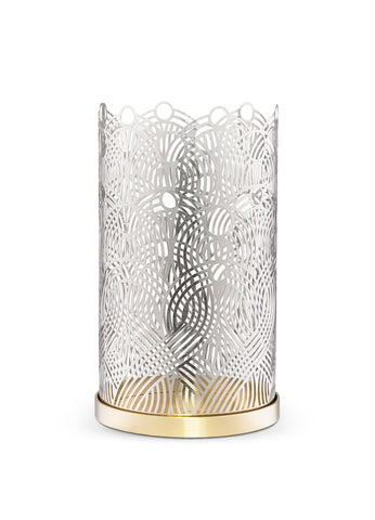 Skultuna Large Lunar Candle Holder in Silver