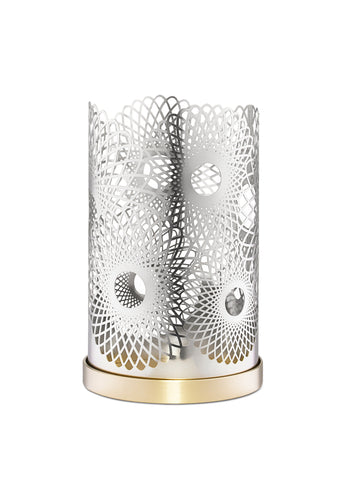 Skultuna Medium Feather Candle Holder in Silver