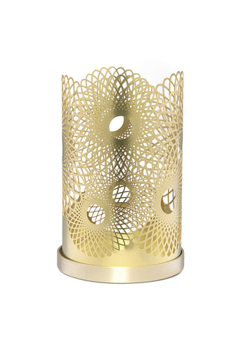 Skultuna Medium Feather Candle Holder in Brass