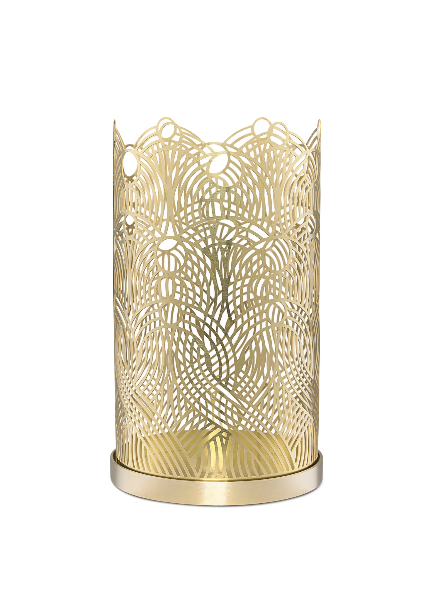 Skultuna Large Lunar Candle Holder in Brass