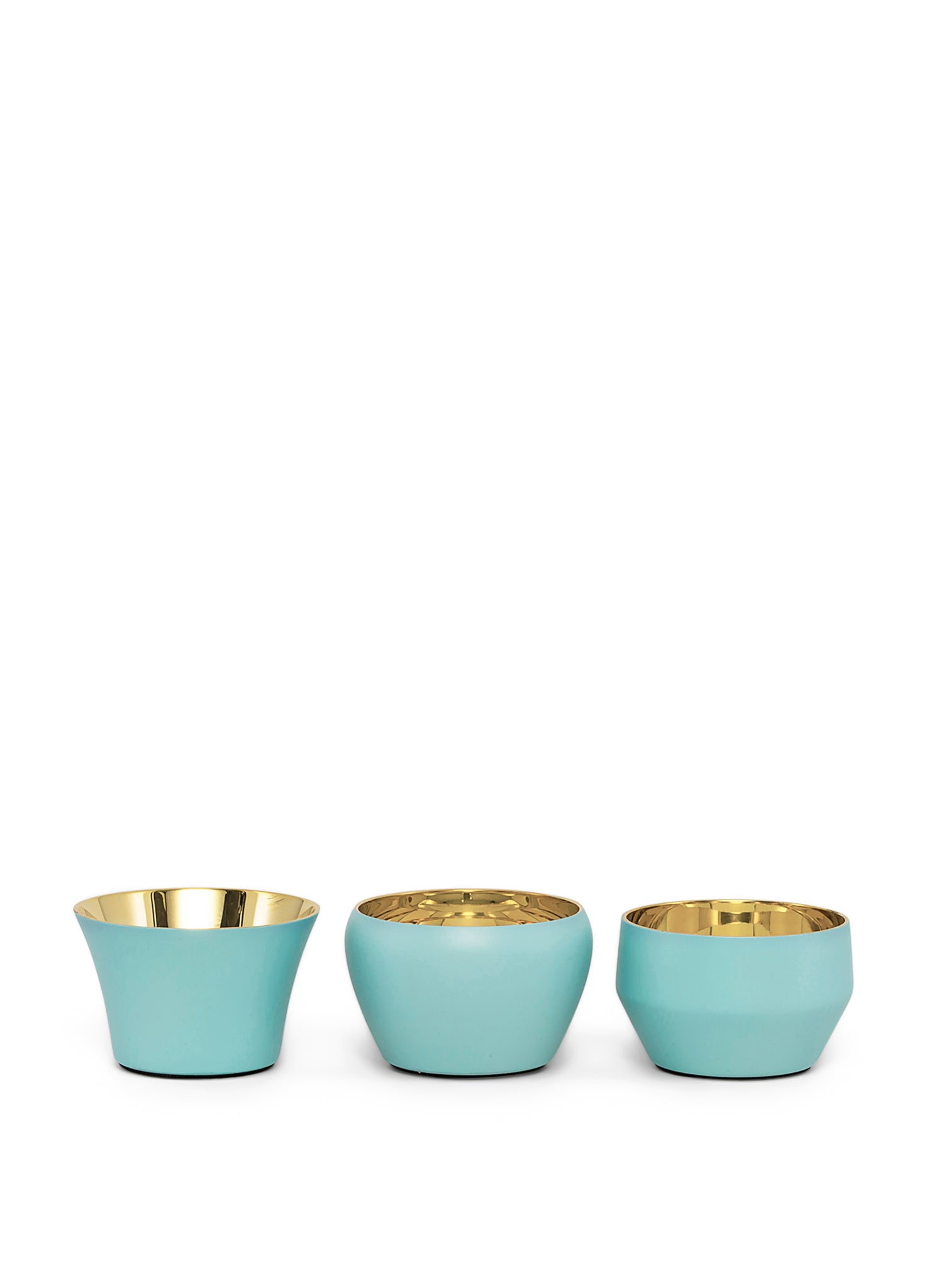 Skultuna Set of 3 Kin Candleholders in Azure