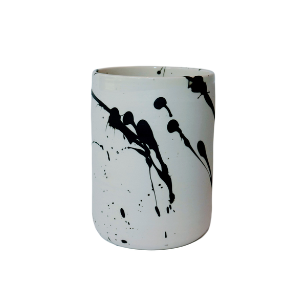 BTW Ceramics Large White Torrent Vase