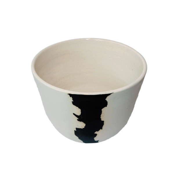 BTW Ceramics Medium White Crater Planter
