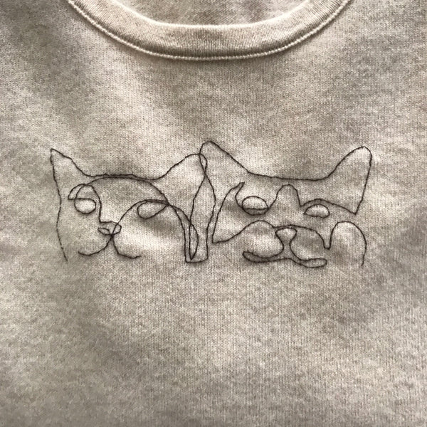 Cats Hand-Stitched Women's Sweater