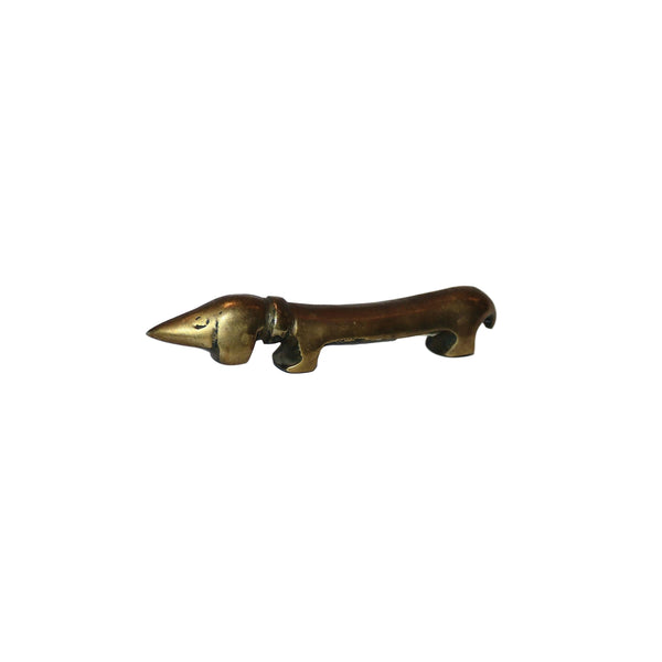 Vintage Solid Brass Dachshund Dog Bottle Opener