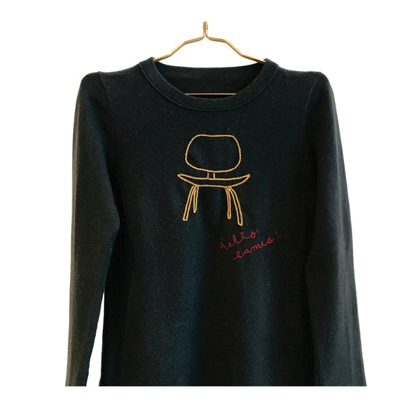 Eames Chair Hand-Stitched Women's Sweater