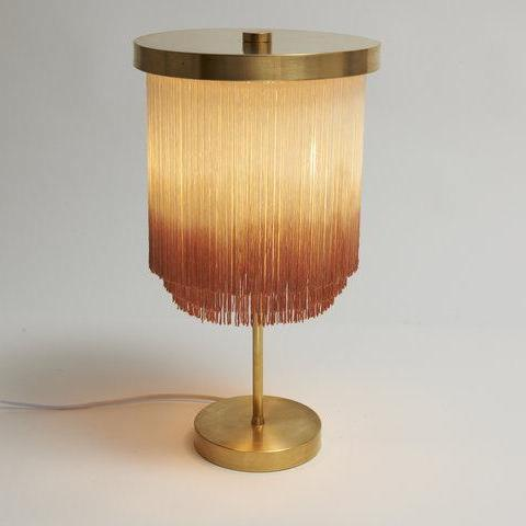 Huldra of Norway Pink Fringe Lamp