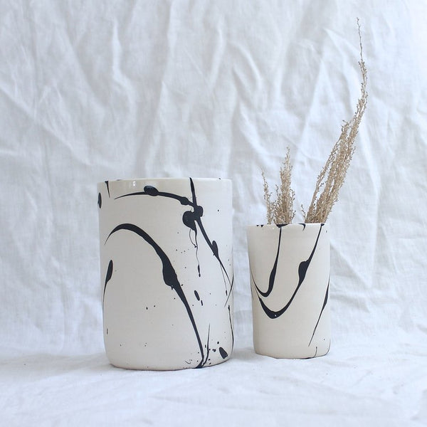 BTW Ceramics White Torrent Tumbler