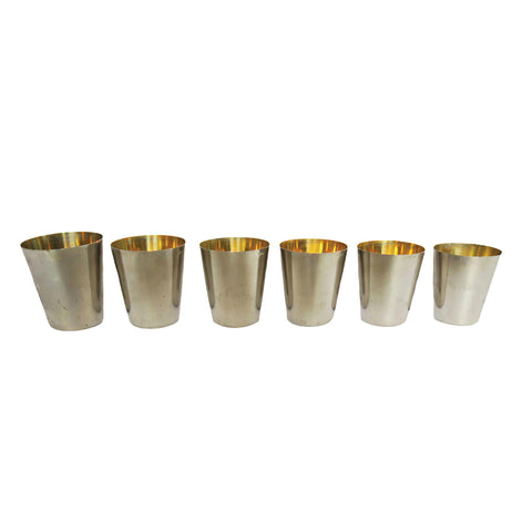 Vintage German Graduated Jigger Shot Glasses