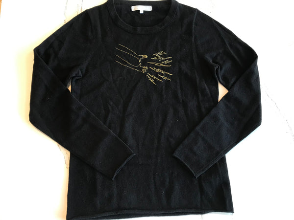 JEN AMENT Magic Hands Hand-Stitched Women's Sweater