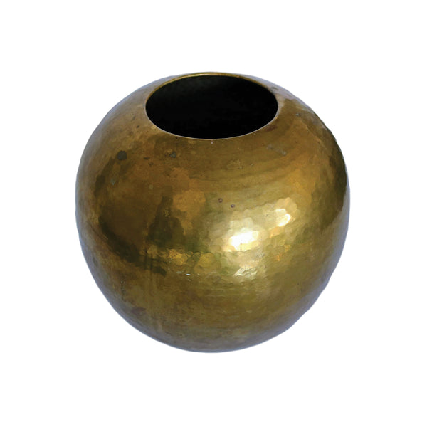 Vintage Brass Hammered Vase