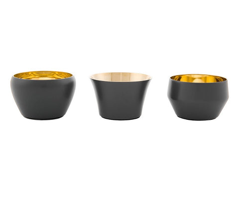 Skultuna Set of 3 Kin Candleholders in Mole Grey