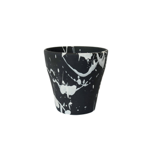 BTW Ceramics Small Black Torrent Planter