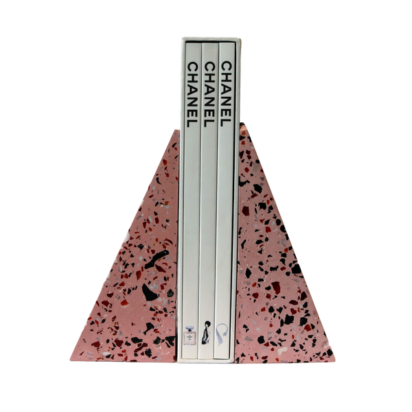 Besler & Sons Wedge Bookends in Strawberry
