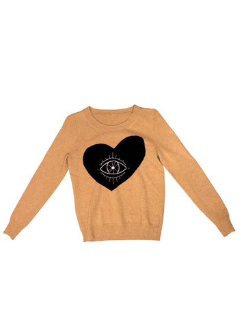 Evil Eye Hand-Stitched Women's Sweater