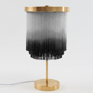 Huldra of Norway Grey Fringe Lamp