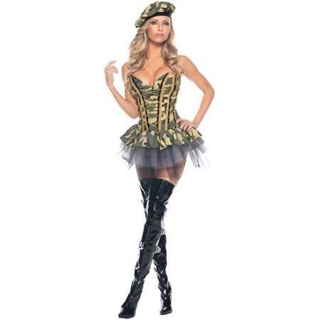 Commando Camo Bustier Military Halloween