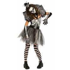 Dancing Skeleton Halloween Costume. 9 pieces