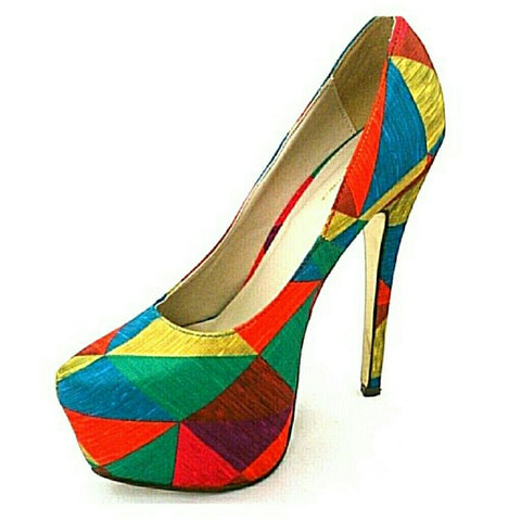 Shi  by Journey's Mosaic platform heels