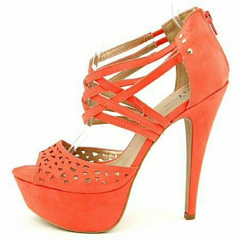 Shi by Journeys Anew Coral Pump Chopped Out