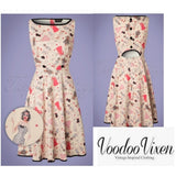 Jacqueline Paper Doll Swing Dress!👗by Voodoo Vixen