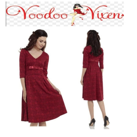 Retro 50' Jane Lace Overlay dress by Voodoo Vixen